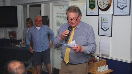 Julian Clark conducting the fundraising auction. Picture: Edwin Kilby