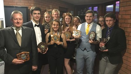 A selection of St Neots Hockey Club award-winners are Nathan Read, Evan Lincoln, Eleanor Pybus, Summ