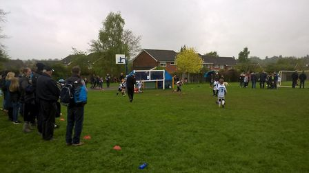 The football tournament. Picture: Sally Griffith