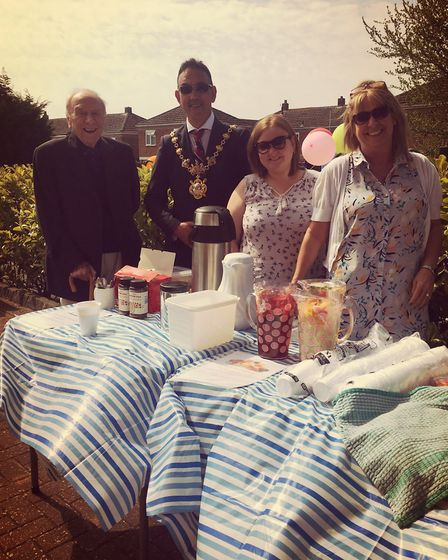 The Mayor of Huntingdon, Councillor Jay Dyne, came to celebrate the event