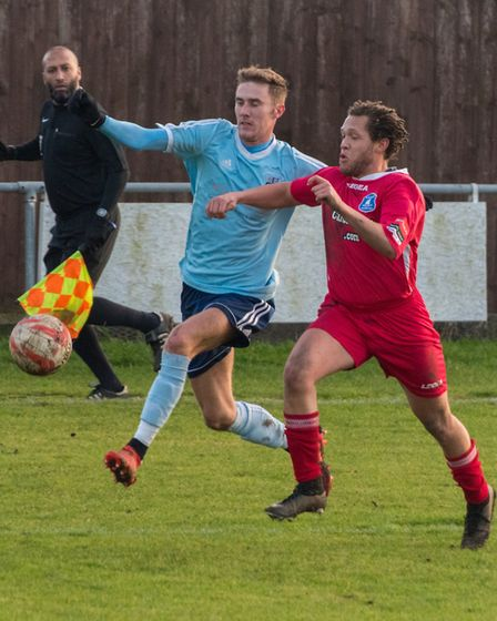Jack Chandler finished the season as Godmanchester Rovers' top scorer with 29 goals. Picture: J BIGG