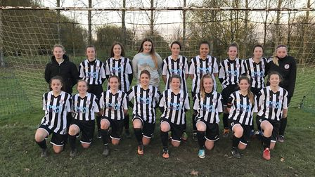 The title-winning St Ives Town Ladies team pictured earlier this season.