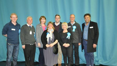 Park Street team picture after the count finished; Stella Nash is on front row right, Councillor Joc