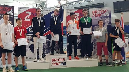 Alex Culkin won the silver medal in the U14 foil category at the British Youth Fencing Championships