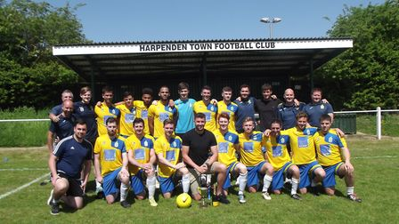 Harpenden Town finished a brilliant 2017-2018 season with victory over Holmer Green.