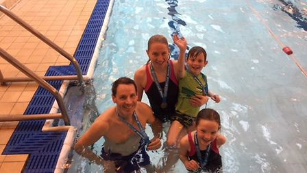 Swimmers have taken part in a swimathon to raise money for Marie Curie cancer care charity. Picture: