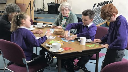The Generations at Play session. Picture: Therfield First School
