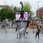 The feature fountain made its debut in 2016, surrounding the bronze Waterplay sculpture