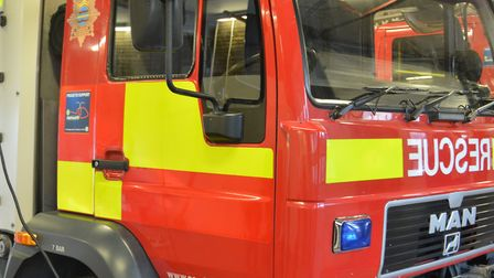 Two fire crews have tackled a caravan fire in Bassingbourn.