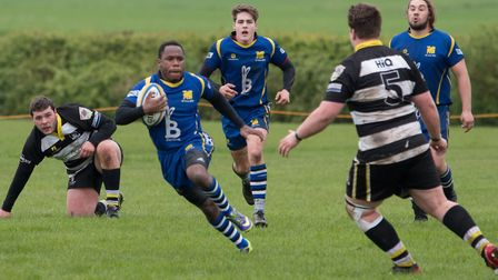 Albiee Tayedzerwa touched down twice as St Ives beat Rushden & Higham. Picture: PAUL COX