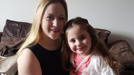 Vicky Thompson and daughter Bethany. Picture: Courtesy of Ricky Thompson
