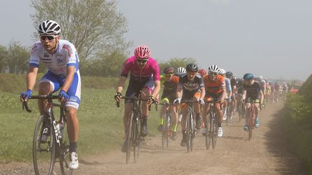 Verulam Reallymoving's Clay Davies battles through the dust during the CiCLE Classic. Picture: JUDIT
