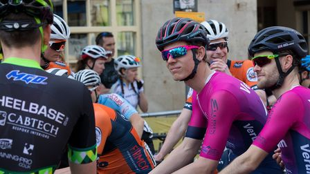 Verulam Reallymoving's Luke Houghton and James Hedley-Smith wait for the start of the CiCLE Classic.