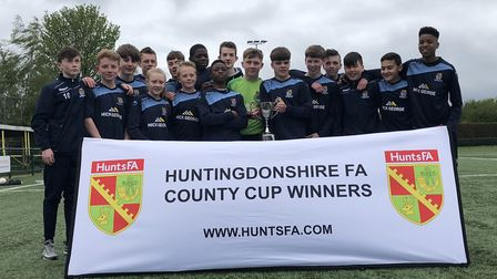 St Neots Town won the Hunts Under 14 Cup. Picture: HUNTS FA