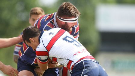 Sam Lunnon put Old Albanian ahead at Rosslyn Park. Picture: Karyn Haddon