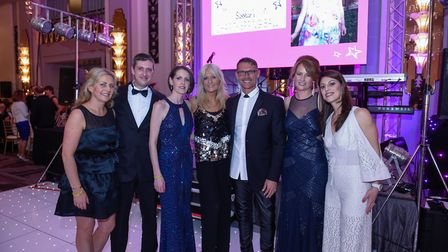 Left to right: Angela Togher, Antony Mather, Sarah Mather, Gaby Roslin, Johnny Partridge, Emma Tsang