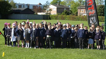 Reception and year one pupils of Tannery Drift Primary School held a bring your grandparent on the d