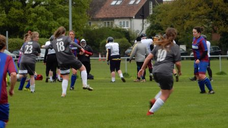 St Albans Ladies finished their league season with a 5-1 win over Sharnbrook Ladies.