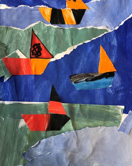 Creative Royston entry: Four Boats. Picture: Creative Royston
