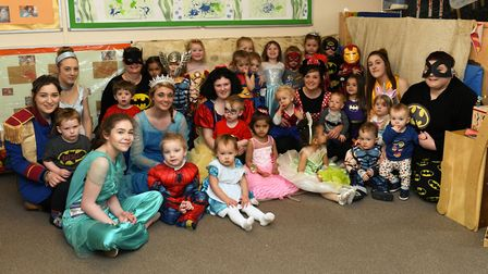 The children from Stepping Stones dressed up for the fundraiser