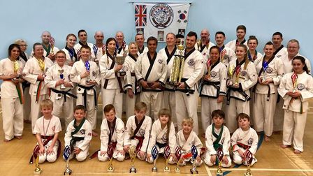Huntingdon Tang Soo Do members who took part in the national championships are Halah Qureshi, Gill I