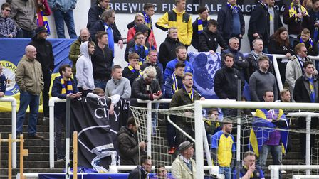 Plenty of St Albans City's fans made the trip to Somerset. Picture: BOB WALKLEY