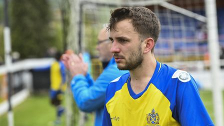 A disappointed Sam Merson reflects on St Albans City missing out on the play-offs. Picture: BOB WALK