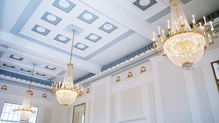 The new chandeliers in the New Museum and Gallery, St Albans. Picture: DANNY LOO