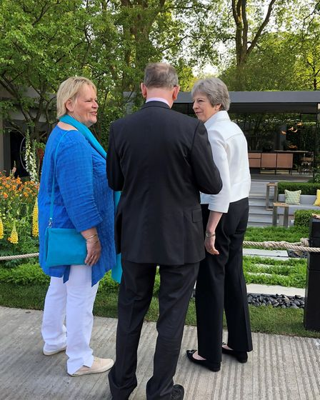 Prime Minister Theresa May at the RHS Chelsea Flower Show 2018 (Picture credit: Deborah McMorran)