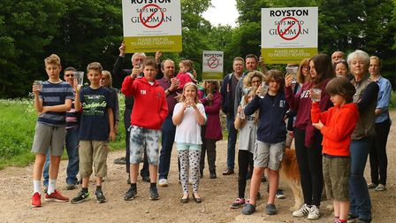 Royston Says No to Gladman campaigners say the public water supply could be put at risk if the 120-h