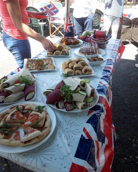 Royal Wedding street party in Harley Court, Jersey Farm.