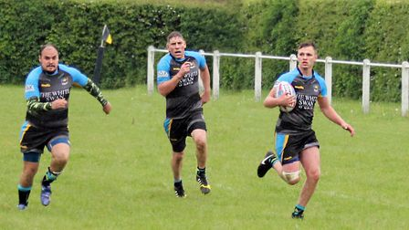 St Albans Centurions' untouchables; Scott Cluelow, Joe Shaw and Jake Lawrence. Picture: Darryl Brown