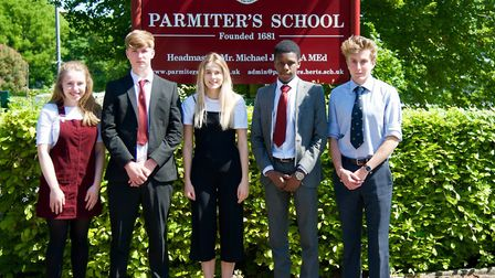 Pupils from Parmiter's School (Picture: ICAEW)