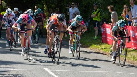 Helen Ralston takes the win in the women's race at the Verulam Reallymoving road race. Picture: JUDI
