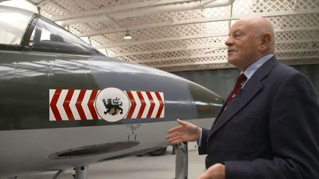 Former Royal Air Force ground engineer, Stan Dell, worked on the Hawker Hunter fighter jet at Duxfor