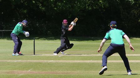 Welwyn Garden City Cricket Club, Digswell Park, Knightsfield, AL8 7NQ. Action of the match between W