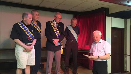 Members of the St Albans and District Provincial Grand Lodge of the Royal Antediluvian Order of Buff
