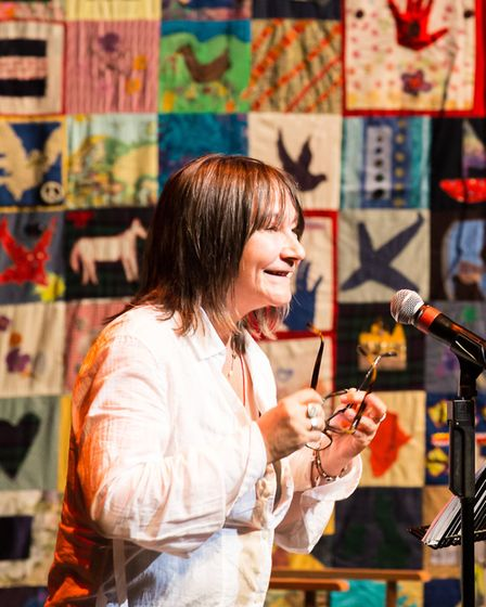 Ali Smith telling a detainee's story. Picture: Chris Orange