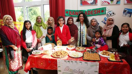 The Bangladesh food stall at the Margaret Wix international fair. Picture: DANNY LOO