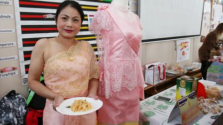 The Thailand food stall at the Margaret Wix international fair. Picture: DANNY LOO