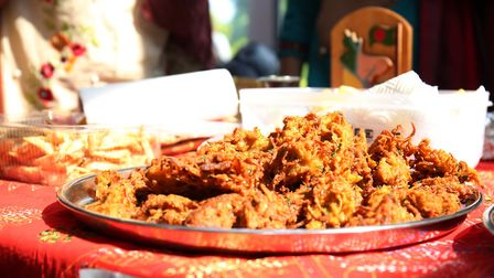 Food on the Bangladesh food stall at the Margaret Wix international fair. Picture: DANNY LOO