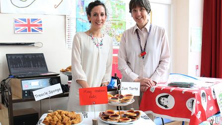 Margaret Wix international fair organisers Amber Moll and Gill Banes. Picture: DANNY LOO
