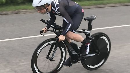 Tim Phillips has now won three St Ives Cycling Club 10-mile time trial events this year.