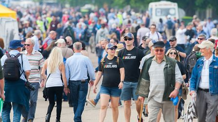 The crowds turned out in the sunshine for the Duxford Air Festival 2018l. Picture: Gerry Weatherhead