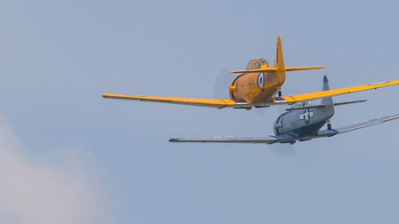 Two North American T-6 Harvard planes. Picture: Gerry Weatherhead