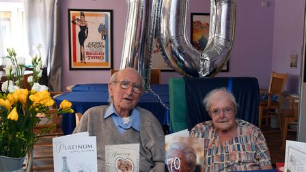 Den and Cynthia celebrating 70 years of wedded bliss