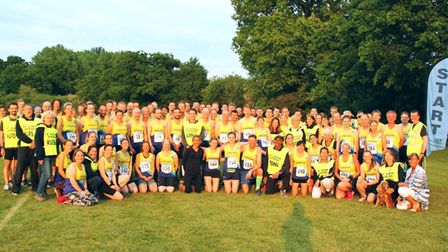 St Albans Striders at the start of the Midweek Road Race League.