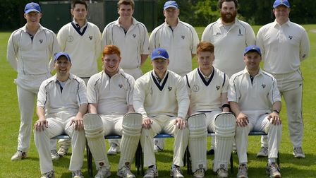 Buckden, pictured ahead of their loss to Bharat Sports, are back row, left to right, Jonny Kay, Tom