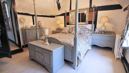 One of five bedrooms at The Old Cottage
