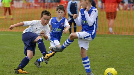 Action from a game involving Godmanchester Rovers Youth Under 9s. Picture: DUNCAN LAMONT